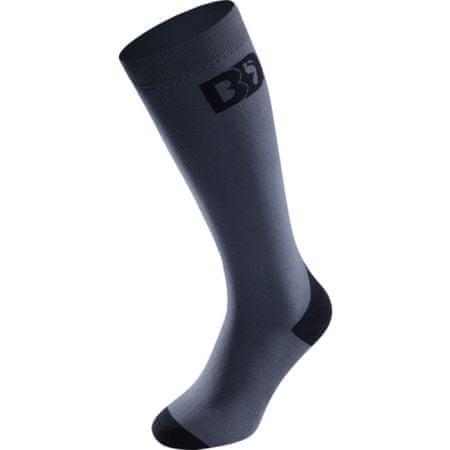 BootDoc nogavice Smoke PFI 50, sivo-črne, 36-38