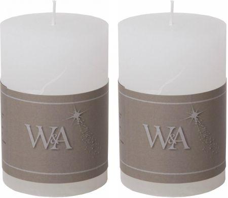 Wittkemper Svíčka rustikální bílá 6 x 6 x 9 cm (2 ks)