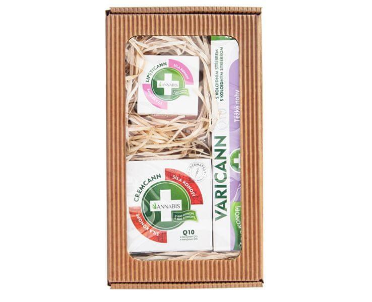 Annabis Dárkové balení pro těžké nohy - Varicann Q10 + Cremcann Q10 50 ml + Lipsticann 15 ml + Balcann 15 ml
