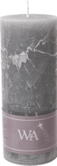 Wittkemper Sviečka rustikálna sivá 7 x 7 x 18 cm
