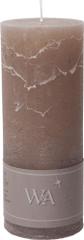 Wittkemper Sviečka rustikálna hnedá 7 x 7 x 18 cm