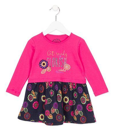 Losan dívčí šaty 122 černá/růžová