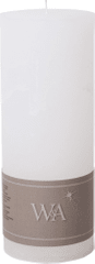 Wittkemper Sviečka rustikálna biela 7 x 7 x 18 cm