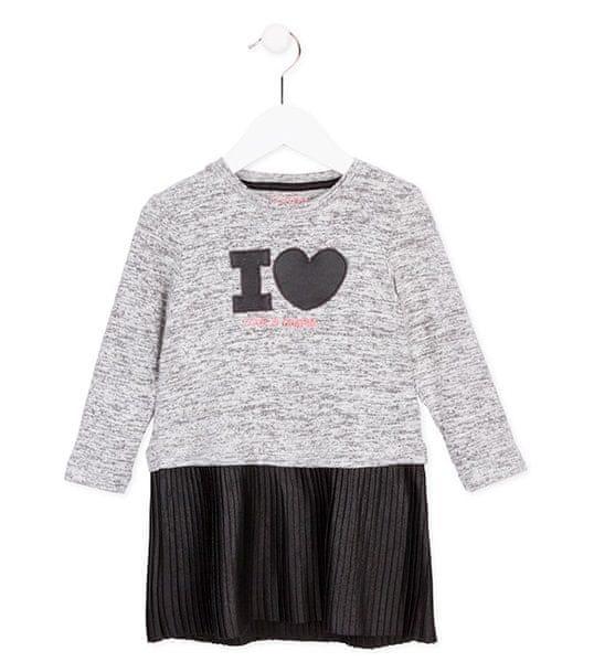 Losan dívčí šaty 116 černá/šedá