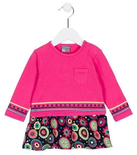 Losan dívčí šaty 74 růžová