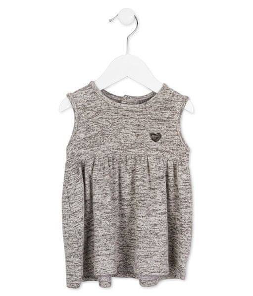 Losan dívčí šaty 74 šedá