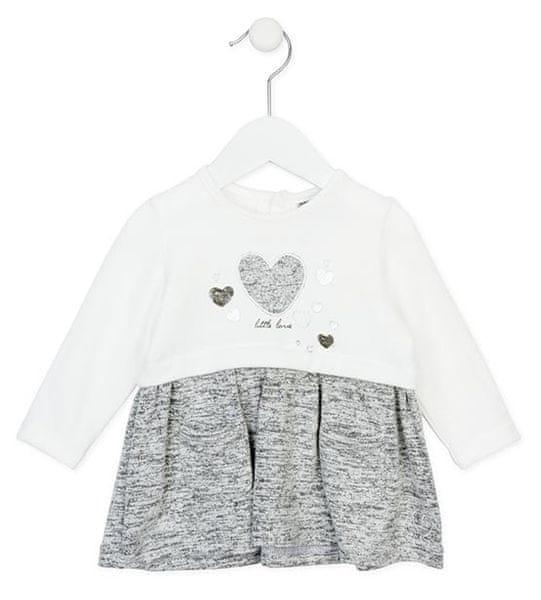 Losan dívčí šaty 74 béžová/šedá