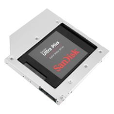 Orico Adapter za SSD/HDD v 9,5mm DVD režo, SATA3, Alu