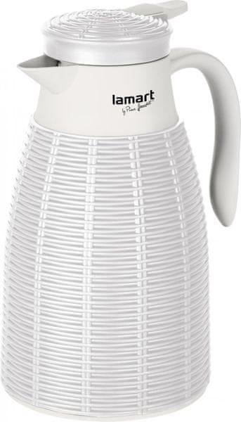 Lamart LT4041 termoska 1l bílá