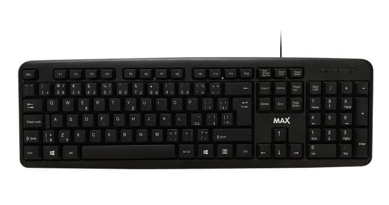 MAX Klávesnice MOK1001B, černá