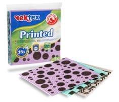 Vektex 5 x Houbová utěrka Printed 3 ks