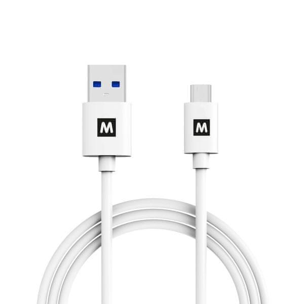MAX Propojovací datový kabel USB 3.1 Gen2, USB a USB A 1m, bílý