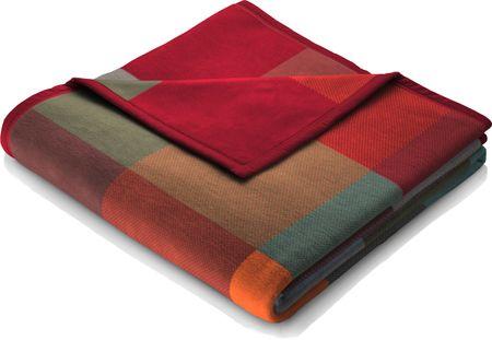 Biederlack Squares Plains deka Colour-woven 150x200