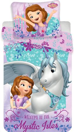 Jerry Fabrics Bavlněné povlečení Princezna Sofia první Unicorn 140x200 cm