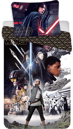 Jerry Fabrics posteljnina Star Wars 8, 140x200 cm, 70x90 cm
