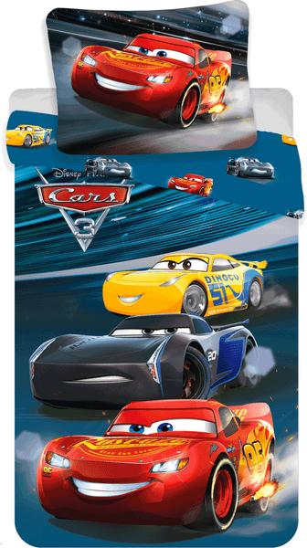 Jerry Fabrics Povlečení Cars 3 Night race 140x200 70x90