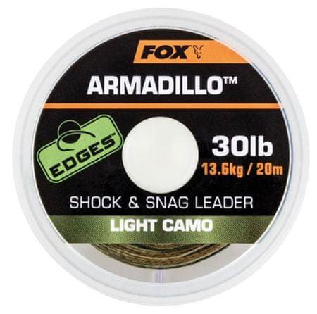 FOX Náväzcová Šnúrka Armadillo Light Camo 20 m 45 lb, 20,4 kg
