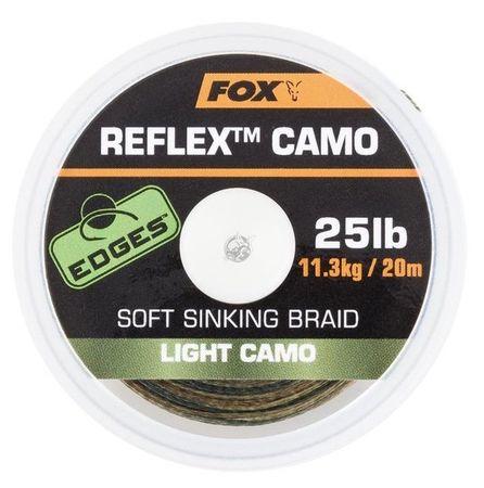 FOX Náväzcová Šnúra Reflex Sinking Light Camo 20 m 35 lb, 15,8 kg