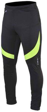 One Way moške športne hlače Rayn Softshell Pants Black/Yellow, XL, črne/rumene