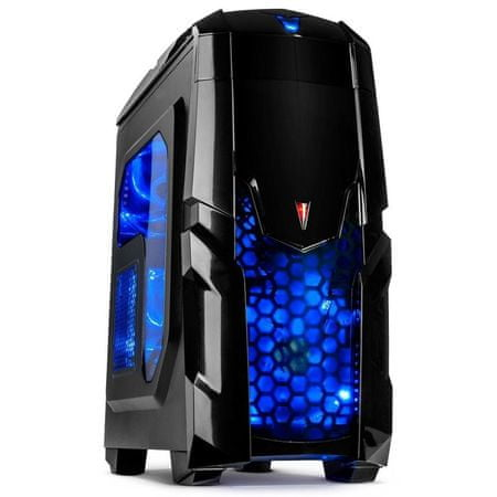 Inter-tech midi ATX ohišje Q2 Illuminator blue, modra LED, črno