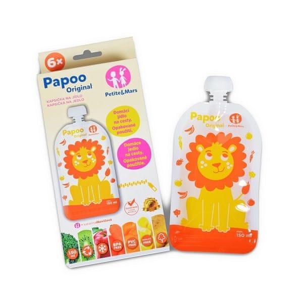 Petite&Mars Kapsička na jídlo Papoo Original Lion 6