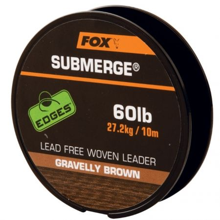 FOX Submerge Lead Free Leader Brown 10 m 30 lb, 13,6 kg