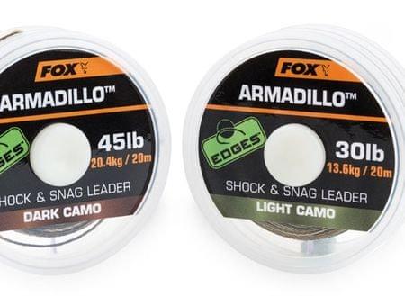 FOX Náväzcová Šnúrka Armadillo 65 lb Camo 29,5 kg 20 m Dark Camo