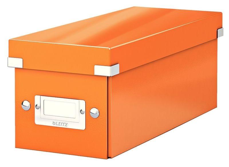 Krabice CLICK & STORE WOW na CD, oranžová