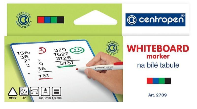 Značkovač 2709 na bílé tabule sada 4 barev