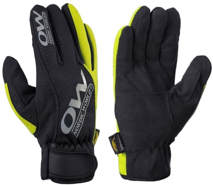 One Way Tobuk 7 Glove Black/Yellow 4