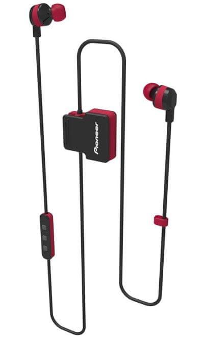 Pioneer SE-CL5BT-R bezdrátová sluchátka, červená