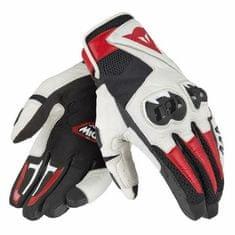 Dainese kožené moto rukavice  MIG C2 UNISEX černá/bílá/červená