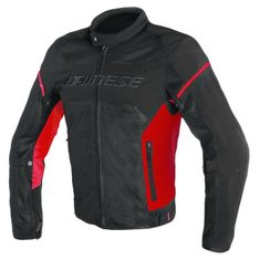 Dainese pánska motocyklová bunda  AIR-FRAME D1 TEX čierna/červená