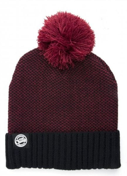 Fox Čepice Chunk Burgundy/Black Bobble