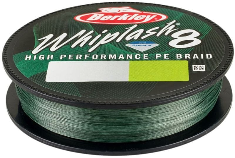 Berkley Splétaná Šňůra Whiplash 8 150 m Green 0,08 mm, 12,9 kg