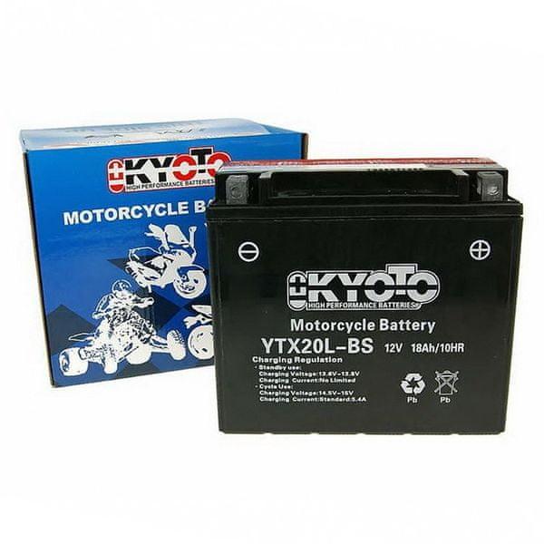 Baterie KYOTO 12V 18Ah YTX20L-BS (dodáváno s kyselinovou náplní)