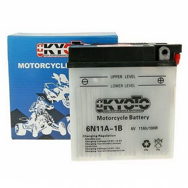 Baterie KYOTO 6V 11Ah 6N11A-1B (dodáváno bez kyselinové náplně)