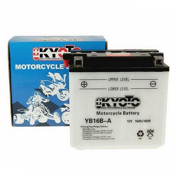 Baterie KYOTO 12V 16Ah YB16B-A (dodáváno bez kyselinové náplně)