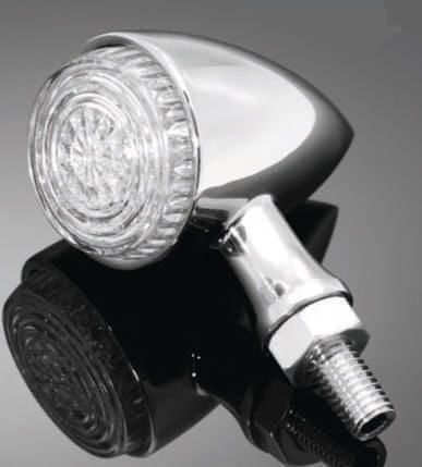 Highway-Hawk kombinované moto blinkry ALL IN ONE s LED, E-mark, chrom (2ks)