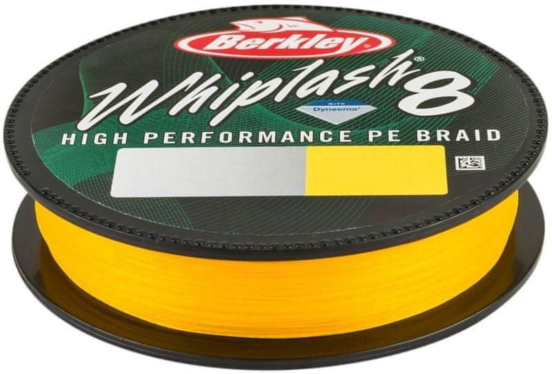 Berkley Splétaná Šňůra Whiplash 8 150 m Yellow 0,20 mm, 27,7 kg
