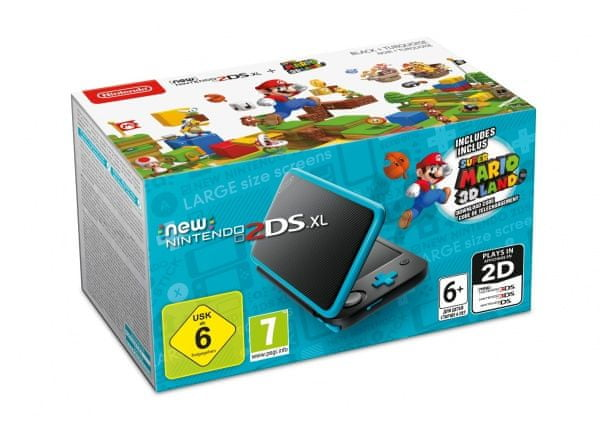 Nintendo 2DS XL + Super Mario 3D Land (DLC)
