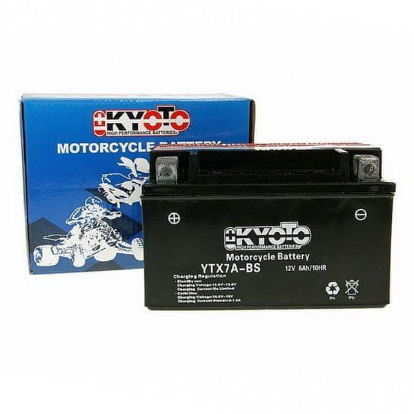 Baterie KYOTO 12V 6Ah YTX7A-BS (dodáváno s kyselinovou náplní)
