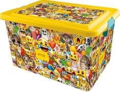 Kis Plastový box Emoji, 23 l