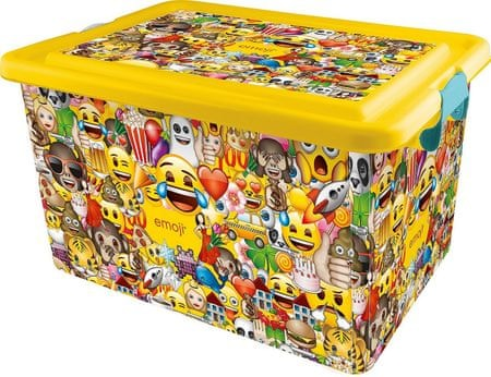 Kis Műanyag doboz Emoji, 23 l
