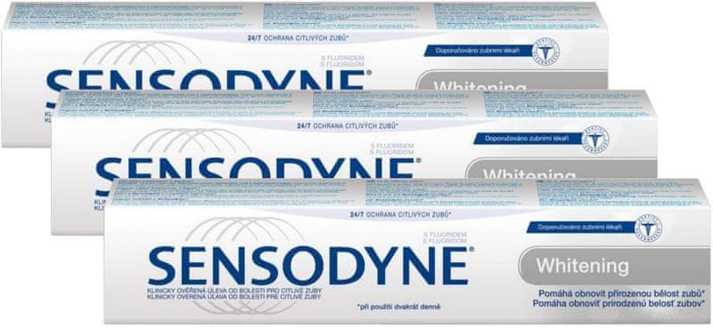 Sensodyne Whitening 75 ml Zubní pasta 3ks