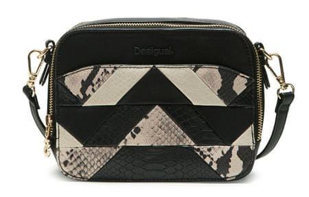 Desigual ženska ročna torbica črna Snake Patch Jasper