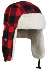 Eiger Čepice Fleece Korean Hat Red Black