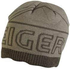 Eiger Čepice Logo Knitted Hat With Fleece Olive Green