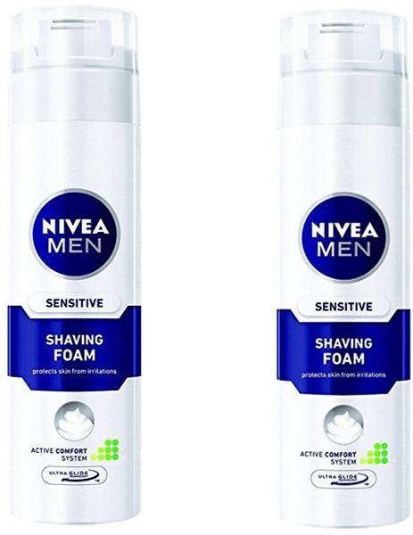 Nivea Men Pěna na holení Sensitive 200 ml 2 ks