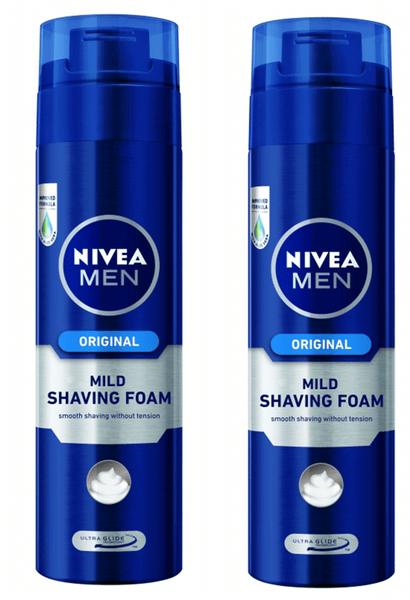 Nivea Men Pěna na holení Original 200 ml 2 ks